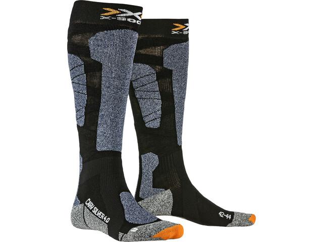 X-Socks Carve Silver 4.0 Chaussettes, black/blue melange